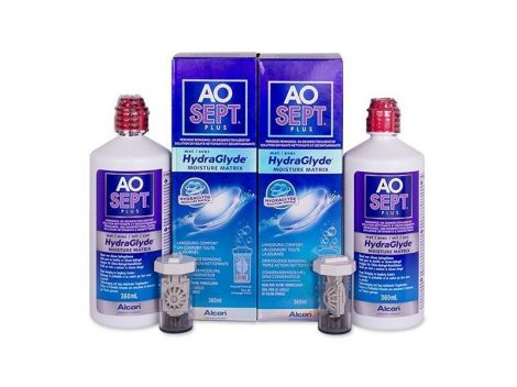 AoSept Plus with HydraGlyde (2x360 ml)
